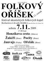 plakát na Folkový oříšek